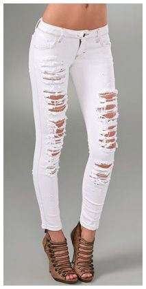 Where can i find white ripped skinny jeans – Global fashion jeans