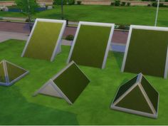 Original EA grass texture now for your roofs !  Found in TSR Category 'Sims 4 Mods'