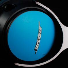 Bose - Matt Blue and White Skin Ear Phones, Matt And Blue, Noise Cancelling Headphones, Bose, Electronics, Car, Headpieces, Automobile, Autos