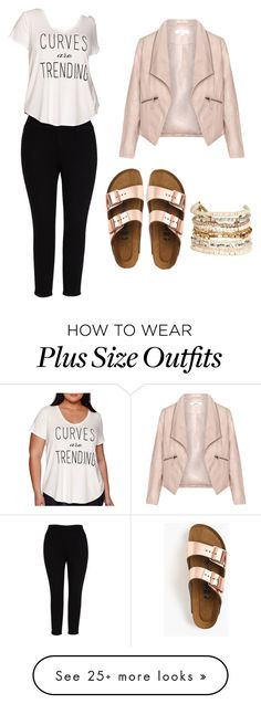 """Plus size"" by mariedonahue on Polyvore featuring Zizzi, Melissa McCarthy Seven7, Boutique+, Birkenstock, Panacea and plus size clothing"