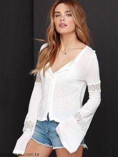 blusas de manga flare - Pesquisa Google
