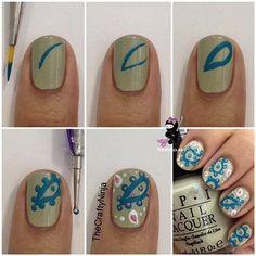 Paisley nails tutorial