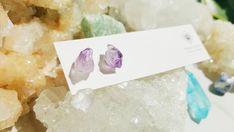 Raw Amethyst Earrings Amethyst Point Crystal Earrings   Etsy Amethyst Earrings, Amethyst Crystal, Crystal Earrings, Crystal Healing, Wooden Advent Calendar, Birthstone Gems, Crystal Cluster, Natural Crystals, Crystals And Gemstones