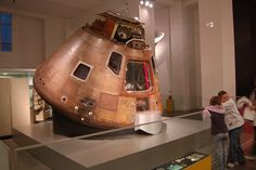 """Apollo 10 Command Module """"Charlie Brown"""" at Science Museum London. On loan from the Smithsonian National Air and Space Museum: http://s.si.edu/cgsJ7   Photo by Chris Devers, Source: Flickr (username Chris Devers)"""