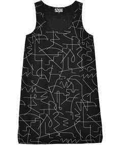 Dusen Dusen Black Wire Tank Dress