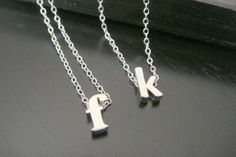 Lowercase Tiny Single Letter Initial Necklace by ElegantSwan, $23.75