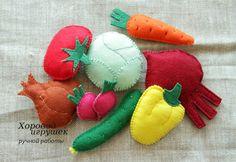 Наши овощи и фрукты из фетра.