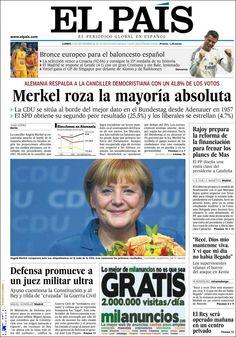 Los Titulares y Portadas de Noticias Destacadas Españolas del 23 de Septiembre de 2013 del Diario El País ¿Que le pareció esta Portada de este Diario Español?