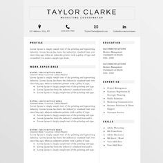 Resume Template And Cover Letter Template By Mypaperpig On Etsy