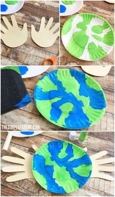 Learn how to make an Earth Day Craft Preschoolers will enjoy!