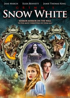 Grimm's Snow White. A poster from the 2012 movie release called Grimm's Snow White. Eliza Bennett plays the part of Snow White. The plot of the movie is about the Queen taking over the kingdom following the death of the King. The Queen intends to kill her stepdaughter in order to rule the kingdom. However, Snow White eludes the Queen by escaping to an enchanted forest.