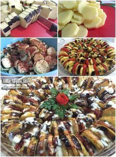 Fırında Patlıcan Patates Dizme Tarifi