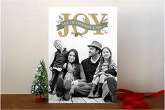Rustic Joy Holiday Photo Cards