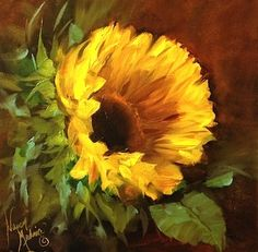 Lost Moments Sunflower Painting and a Free Painting Demo by Nancy Medina, painting by artist Nancy Medina