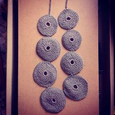 Crochet jewelry - Necklace Fat Circle  Croscé - Creative Crochet & Sewing