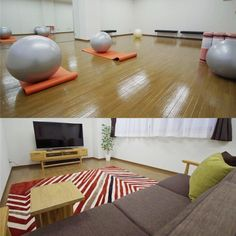 gym/studio and a theater room