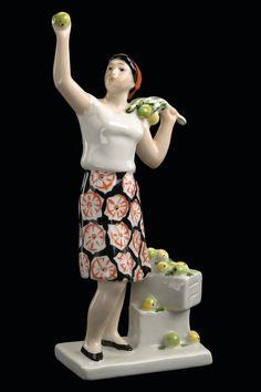 Гендельман Ефим Аронович  Ленинградский фарфоровый завод им. М.В. Ломоносова  Сборщица яблок,  1963