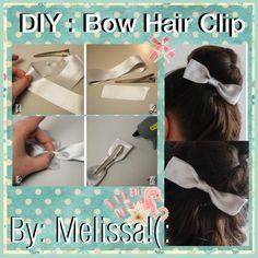 BOW HAIR CLIP - 23 BEAUTIFUL DIY HAIR ACCESSORIES