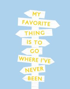 Where I've Never Been - 11 x 14 Travel Quote Print by Etsy.