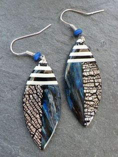 Earrings made from polymer clay.