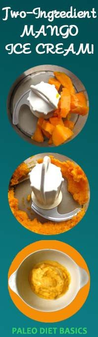 Two-Ingredient Mango ice cream