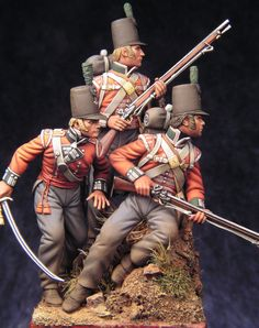 British; Officer & men of the Light Company , 68th Regiment of Foot