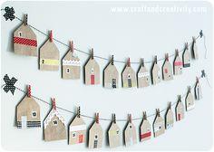 Husformade presentpåsar – House shaped favor bags - Craft Creativity. Underbara! Kanske lägga i små fina lappar med saker att göra för varandra?
