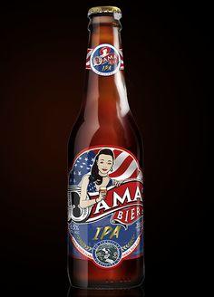 Dama Bier Pin Ups Series by celso caramalac, via Behance