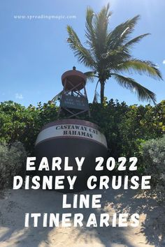 Early 2022 Disney Cruise Line itineraries will return to Hawaii and other favorite tropical destinations to delight families with one-of-a-kind vacations at sea. Adventure awaits during 10-night Hawaiian Islands cruises and a variety of sailings to the Bahamas, Caribbean and Mexico, departing from coast-to-coast homeports including New Orleans, Galveston, Texas, San Diego, Miami and Port Canaveral, Florida. #cruise #DisneyCruise #DisneyCruiseLine #DCL #Bahamas #Caribbean #Hawaii