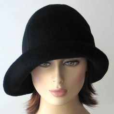 986bc4d7402 Black Cloche Hat Wool Hat WomenFall Fashion by katarinacouture