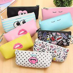 Cheap Pencil Cases, Buy Directly from China Suppliers:Newest Modern Girl PU Waterproof Pencil Case Stationery Storage Organizer Bag School Office Supply Escolar Papelaria School Pencil Case, Cute Pencil Case, School Stationery, Kawaii Stationery, Pencil Cases For Girls, Free School Supplies, Leather Pencil Case, Pu Leather, Pencil Bags