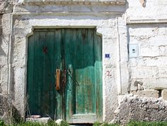 Aqua blue door from Cappadocia... | Goreme, Turkey