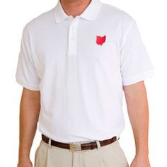 Ohio Columbus Gameday Polo White | State Traditions