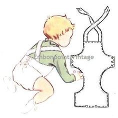 Vintage 1950s Babys Overalls Pattern   - looks easy enough to draft up my own pattern.
