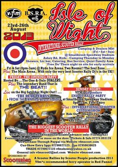 23-26 August 2013: International Scooter Rally, Isle Of Wight