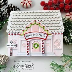 Paper Craft Supplies, Paper Crafts, Pink Christmas, Christmas Cards, Santa Express, Bee Toys, Honey Bee Stamps, Handmade Stamps, Christmas Ornament Crafts