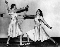 Satin fencing uniforms