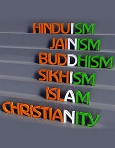 Very cool! This represents the many different religions in India.