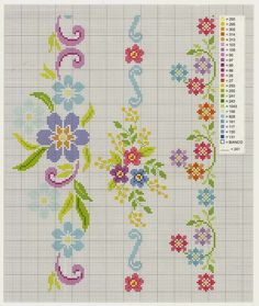 ru / Фото - I Lavori Femminili di Mani di Fata: Bordure a Punto Croce 20 - tymannost Cross Stitch Boarders, Cross Stitch Pillow, Cross Stitch Bookmarks, Mini Cross Stitch, Cross Stitch Flowers, Cross Stitch Charts, Cross Stitch Designs, Cross Stitching, Cross Stitch Embroidery