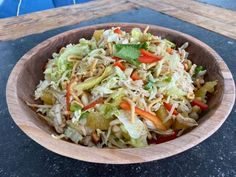 Get Crunchy Cabbage Salad with Chicken and Orange Ginger Dressing Recipe from Food Network Kitchen Recipes, Cooking Recipes, Healthy Recipes, What's Cooking, Easy Recipes, Main Dish Salads, Main Dishes, Side Dishes, Salad Bar