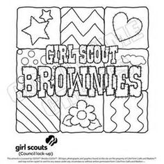 1000 Images About Brownies Girl Scout Brownies On Scout Brownie Coloring Page Free