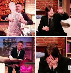 Is it just me or does Chris Hardwick have a man-crush on Daryl?