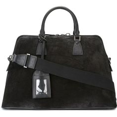 Maison Margiela large 5AC tote ($2,965) ❤ liked on Polyvore featuring men's fashion, men's bags, black, mens leather tote bag, men's tote bag, mens leather bag, mens leather purses bags and mens purse bags