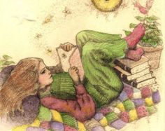 Check out our reading illustration selection for the very best in unique or custom, handmade pieces from our art & collectibles shops. Reading Art, Girl Reading, Reading Time, Love Reading, Reading Books, I Love Books, Good Books, Books To Read, World Of Books