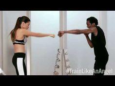 Train Like An Angel 2013: Full-Body Workout with Adriana Lima & trainer Michael Olajide Jr.   Victoria's Secret Sport