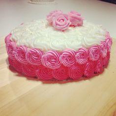 Botercreme rozetten taart