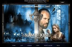 "Website designed and developed for the movie ""In The Name of The King"""