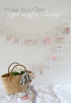 How to make a paper lantern garland