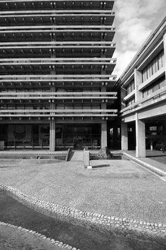 The Kagawa Prefectural Office by Tange Kenzo #Tange #Kagawa #architecture #modernism