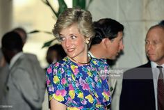 MARCH 16 1990 Princess Diana at the State House in Lagos